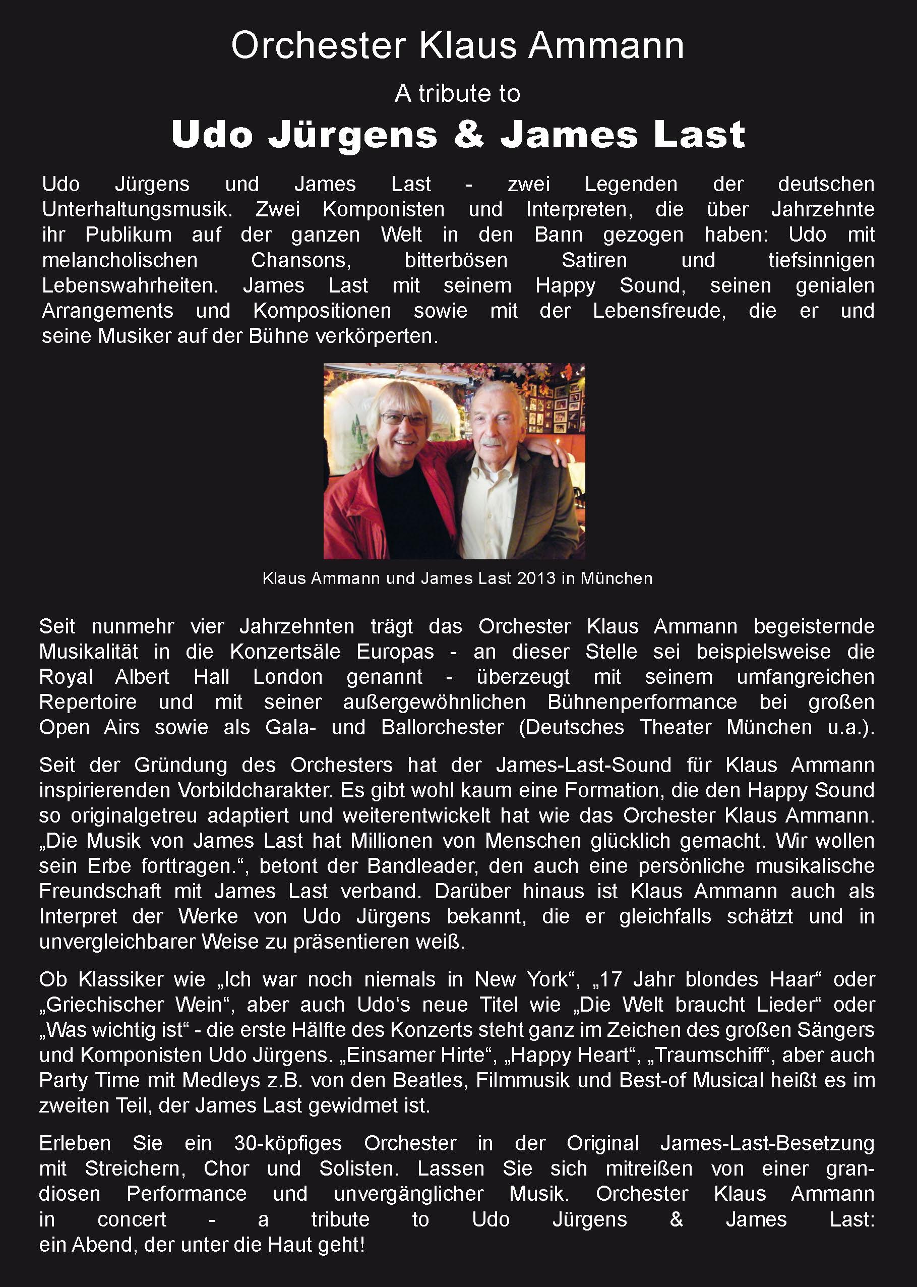 Flyer Rückseite - A tribute to